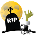 grave, halloween, hand, scary icon