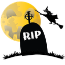 grave, halloween, hauted, rip, scary, witch icon