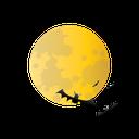 bat, halloween, moon, scary icon