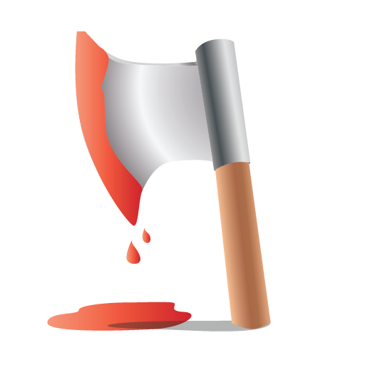axe, bloody, halloween, scary icon