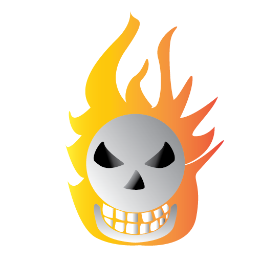 bone, burning, halloween, scary icon