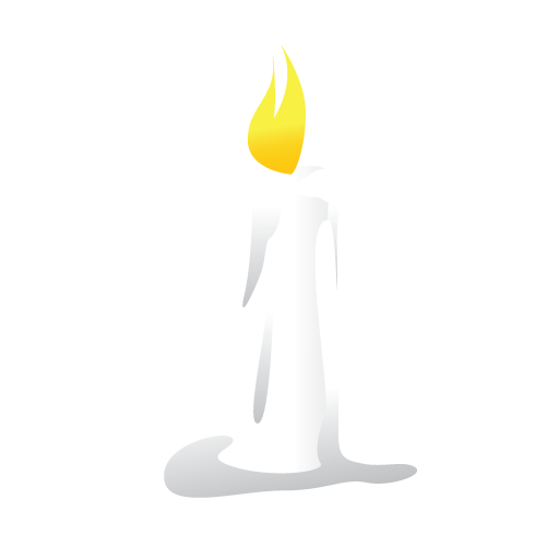 candle, halloween, scary, white icon