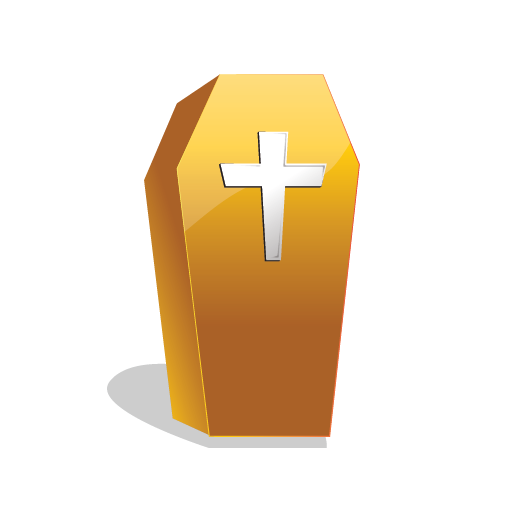 coffin, halloween, scary icon