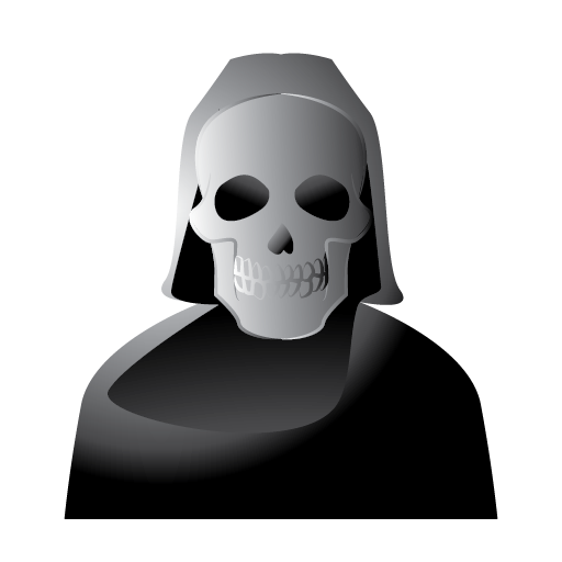 death, halloween, reaper, scary, skull icon
