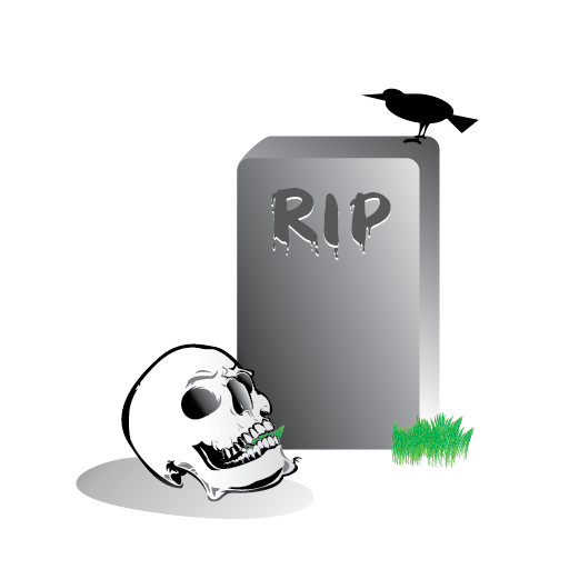 black crow, grave, halloween, scary, skull icon