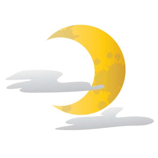 half, halloween, moon, scary icon