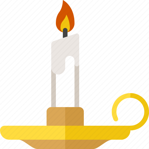 candle, halloween, holder, horror, scary icon
