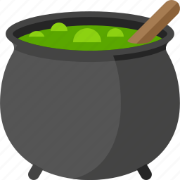 cauldron, halloween, pot, potion, sorcery, witch icon