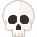 bone, halloween, head, human, skull icon