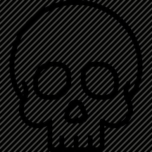 bone, halloween, head, human, skull icon