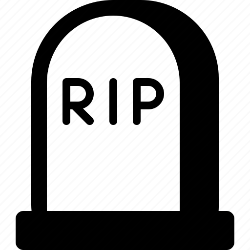 death, grave, graveyard, halloween, rip, tomb, tombstone icon