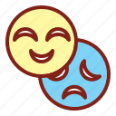 happy, mask, sad icon