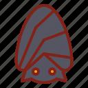 bat, halloween, sleeping icon