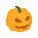 autumn, halloween, isometric, lantern, orange, organic, pumpkin icon