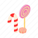 candy, dessert, food, halloween, isometric, pink, sweet icon
