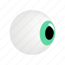 eye, eyeball, eyesight, human, iris, isometric, view icon