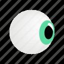 eye, eyeball, eyesight, human, iris, isometric, view