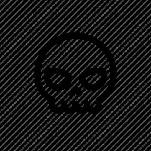 danger, dead, halloween, head, lethal, skull, skullline icon