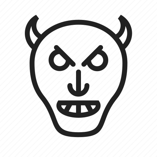 devil, evil, face, horror, monster, skull, zombie icon