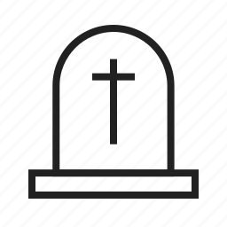 death, funeral, grave, gravestone, graveyard, stone, tomb icon
