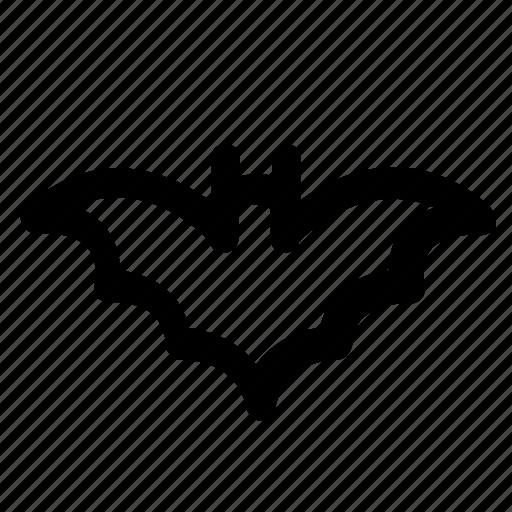 bat, halloween, lined, mystery, night, vampire, wings icon