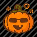emoji, halloween, lantern, pumpkin icon