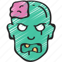 dead, evil, halloween, male, zombie icon