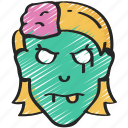 dead, evil, female, halloween, male, zombie icon