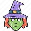 echanter, evil, halloween, sorcerer, witch icon