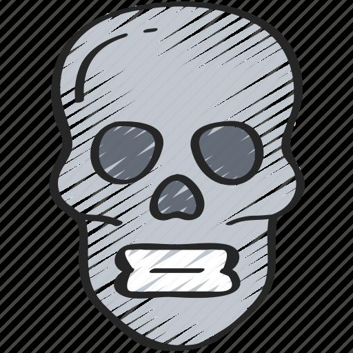 dead, evil, halloween, skelenton, skull icon