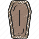 coffin, dead, evil, halloween, vampire icon