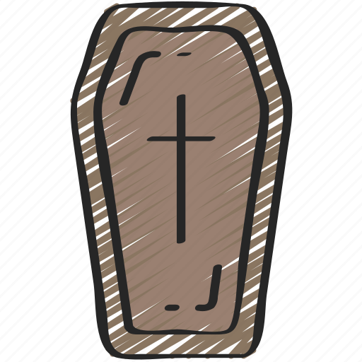 coffin, dead, evil, halloween, vampire icon