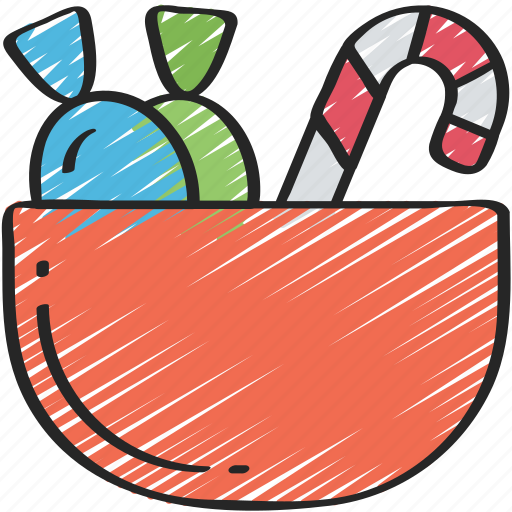bowl, candy, evil, halloween, sweet, trick or treat icon