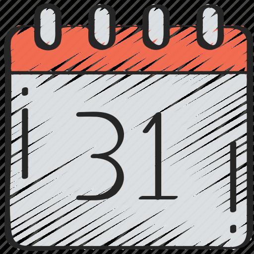 calendar, date, evil, halloween, october icon