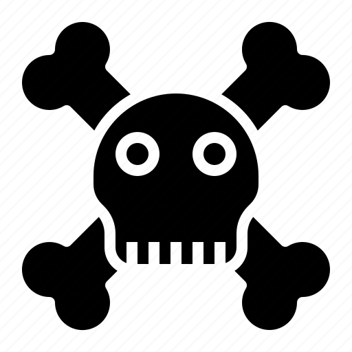 bone, danger, halloween, skeleton, skull icon