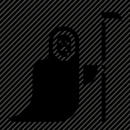death, ghost, halloween, reaper, scythe icon