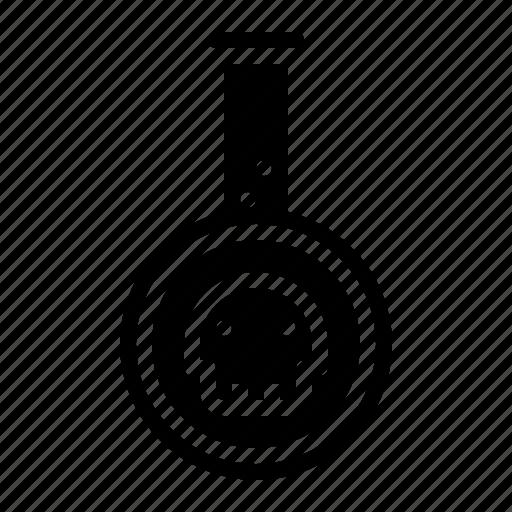 bottle, halloween, poison, potion, tube icon