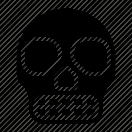 bone, halloween, head, skeleton, skull icon