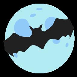 bat, halloween, holidays, moon icon
