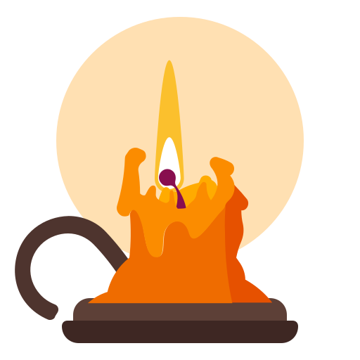 candle, flame, halloween, holidays icon