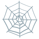 cobweb, halloween, holidays icon