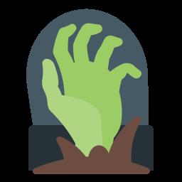 grave, hand, holidays, insurgent, zombi icon