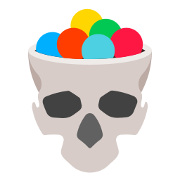 bonbon, candy, halloween, holidays, skull icon