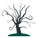 dead, dry, old, scary, tree icon