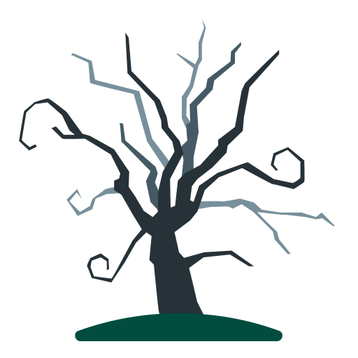 Tree, dead, dry, old, scary icon - Free download
