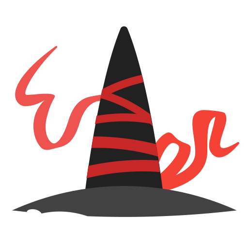 halloween, hat, holidays, ribbon, witch icon