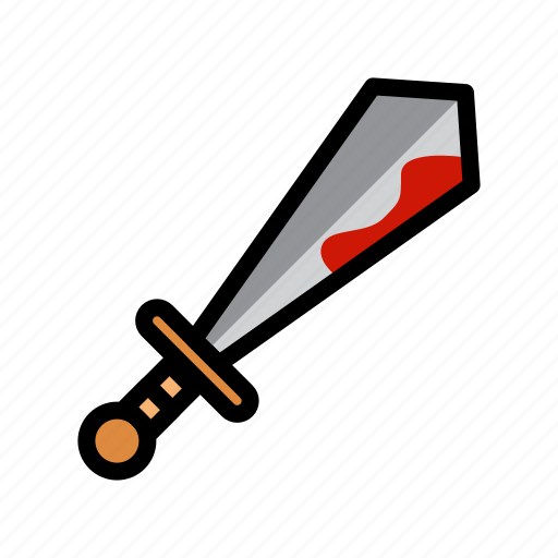 blood, halloween, scary, spooky, sword icon