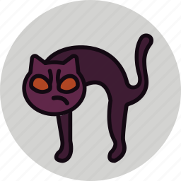 angry, bad, black cat, cat, evil, halloween, kitty icon