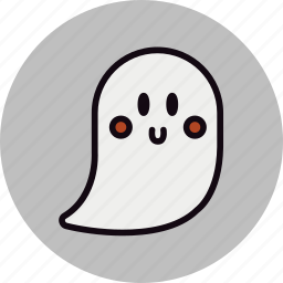 friendly, ghost, halloween, happy, smile icon