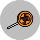 candy, halloween, spider, sweet, trick or treat icon